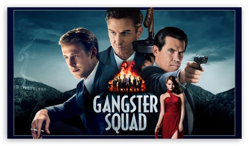 Gangster Squad HD wallpaper for HD 16:9 High Definition WQHD QWXGA 1080p 900p 720p QHD nHD ; Mobile 16:9 - WQHD QWXGA 1080p 900p 720p QHD nHD ;