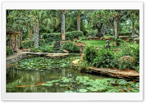 Garden HDR HD Wide Wallpaper for Widescreen