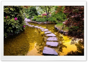 Garden Path HD Wide Wallpaper for Widescreen