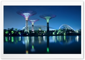 Gardens By The Bay HD Wide Wallpaper for 4K UHD Widescreen desktop & smartphone
