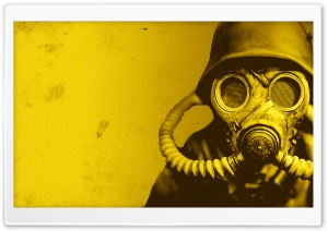 Gas Mask Solider HD Wide Wallpaper for Widescreen