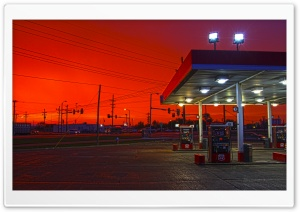 Gas Station HD Wide Wallpaper for Widescreen