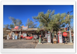 Gas Station, Route 66, Arizona HD Wide Wallpaper for 4K UHD Widescreen desktop & smartphone
