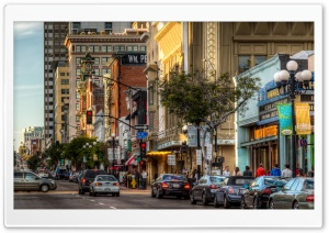Gaslamp 5th Avenue HD Wide Wallpaper for Widescreen