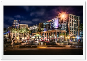 Gaslamp Quarter neighborhood in San Diego, California HD Wide Wallpaper for 4K UHD Widescreen desktop & smartphone