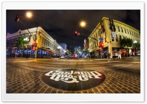 Gaslamp Quarter, San Diego HD Wide Wallpaper for Widescreen