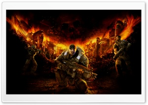 Gears of War 1 HD Wide Wallpaper for Widescreen