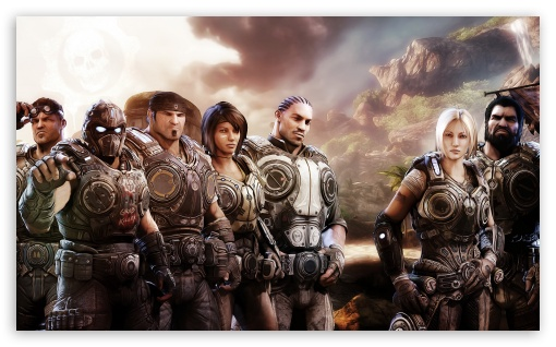 Gears Of War 3 Team HD wallpaper for Wide 5:3 Widescreen WGA ; HD 16:9 High Definition WQHD QWXGA 1080p 900p 720p QHD nHD ; Mobile 5:3 3:2 16:9 - WGA DVGA HVGA HQVGA devices ( Apple PowerBook G4 iPhone 4 3G 3GS iPod Touch ) WQHD QWXGA 1080p 900p 720p QHD nHD ;
