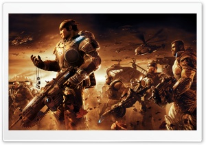 Gears Of War Game Battle HD Wide Wallpaper for Widescreen