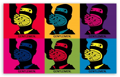 Gentlemen Pop Art HD wallpaper for Wide 16:10 Widescreen WHXGA WQXGA WUXGA WXGA ; Other 3:2 DVGA HVGA HQVGA devices ( Apple PowerBook G4 iPhone 4 3G 3GS iPod Touch ) ; Mobile iPhone - HVGA Smartphone ( Apple iPhone iPod BlackBerry HTC Samsung Nokia ) ;