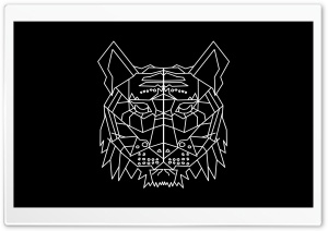 Geometric Tigerhead HD Wide Wallpaper for Widescreen