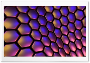 Geometrical Hexagons HD Wide Wallpaper for Widescreen