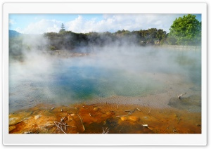 Geothermal Hot Springs, Rotorua, New Zealand HD Wide Wallpaper for Widescreen