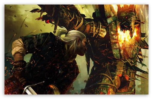 Geralt Of Rivia, The Witcher 2 HD wallpaper for Standard 4:3 Fullscreen UXGA XGA SVGA ; Wide 16:10 5:3 Widescreen WHXGA WQXGA WUXGA WXGA WGA ; HD 16:9 High Definition WQHD QWXGA 1080p 900p 720p QHD nHD ; Other 3:2 DVGA HVGA HQVGA devices ( Apple PowerBook G4 iPhone 4 3G 3GS iPod Touch ) ; Mobile VGA WVGA iPhone iPad PSP - VGA QVGA Smartphone ( PocketPC GPS iPod Zune BlackBerry HTC Samsung LG Nokia Eten Asus ) WVGA WQVGA Smartphone ( HTC Samsung Sony Ericsson LG Vertu MIO ) HVGA Smartphone ( Apple iPhone iPod BlackBerry HTC Samsung Nokia ) Sony PSP Zune HD Zen ;