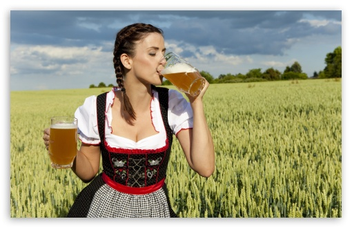 German Woman Drinking Beer HD wallpaper for Standard 4:3 5:4 Fullscreen UXGA XGA SVGA QSXGA SXGA ; Wide 16:10 5:3 Widescreen WHXGA WQXGA WUXGA WXGA WGA ; HD 16:9 High Definition WQHD QWXGA 1080p 900p 720p QHD nHD ; Other 3:2 DVGA HVGA HQVGA devices ( Apple PowerBook G4 iPhone 4 3G 3GS iPod Touch ) ; Mobile VGA WVGA iPhone iPad PSP Phone - VGA QVGA Smartphone ( PocketPC GPS iPod Zune BlackBerry HTC Samsung LG Nokia Eten Asus ) WVGA WQVGA Smartphone ( HTC Samsung Sony Ericsson LG Vertu MIO ) HVGA Smartphone ( Apple iPhone iPod BlackBerry HTC Samsung Nokia ) Sony PSP Zune HD Zen ; Tablet 2 Android ;