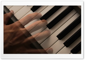 Ghost on Piano HD Wide Wallpaper for Widescreen