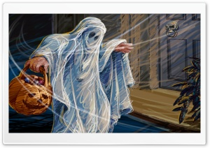 Ghost Trick Or Threat Hallowmas Halloween HD Wide Wallpaper for Widescreen