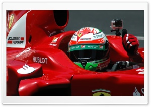 Giancarlo Fisichella Ferrari Formula 1 Driver HD Wide Wallpaper for Widescreen