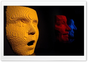 Giant Lego Faces Art HD Wide Wallpaper for 4K UHD Widescreen desktop & smartphone