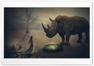 Giant Rhino HD Wide Wallpaper for Widescreen