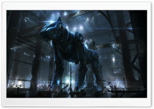 Giant Robot Dog HD Wide Wallpaper for Widescreen