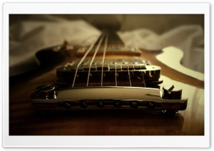 Gibson Les Paul Guitar HD Wide Wallpaper for Widescreen