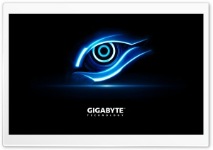 Gigabyte Blue Eye HD Wide Wallpaper for Widescreen