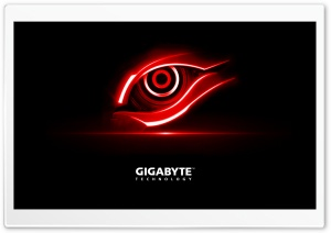 Gigabyte Red Eye HD Wide Wallpaper for Widescreen
