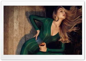 Gigi Hadid Green Jumpsuit HD Wide Wallpaper for 4K UHD Widescreen desktop & smartphone