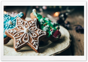 Gingerbread Cookie HD Wide Wallpaper for 4K UHD Widescreen desktop & smartphone