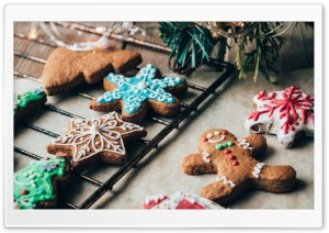 Gingerbread Cookie Ultra HD Wallpaper for 4K UHD Widescreen desktop, tablet & smartphone