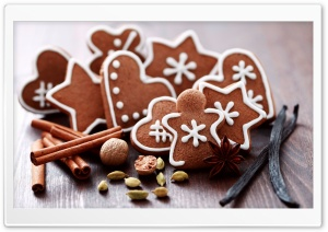 Gingerbread Figures Ultra HD Wallpaper for 4K UHD Widescreen desktop, tablet & smartphone