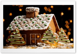 Gingerbread House HD Wide Wallpaper for 4K UHD Widescreen desktop & smartphone