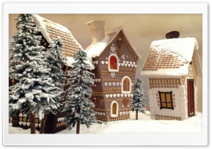 Gingerbread Houses HD Wide Wallpaper for 4K UHD Widescreen desktop & smartphone