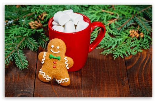 Gingerbread Man, Red Mug of Hot Chocolate with Marshmallows UltraHD Wallpaper for Wide 16:10 5:3 Widescreen WHXGA WQXGA WUXGA WXGA WGA ; 8K UHD TV 16:9 Ultra High Definition 2160p 1440p 1080p 900p 720p ; UHD 16:9 2160p 1440p 1080p 900p 720p ; Standard 4:3 5:4 3:2 Fullscreen UXGA XGA SVGA QSXGA SXGA DVGA HVGA HQVGA ( Apple PowerBook G4 iPhone 4 3G 3GS iPod Touch ) ; Tablet 1:1 ; iPad 1/2/Mini ; Mobile 4:3 5:3 3:2 16:9 5:4 - UXGA XGA SVGA WGA DVGA HVGA HQVGA ( Apple PowerBook G4 iPhone 4 3G 3GS iPod Touch ) 2160p 1440p 1080p 900p 720p QSXGA SXGA ;