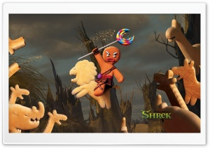 Gingerbread Man, Shrek The Final Chapter HD Wide Wallpaper for Widescreen