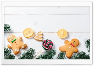 Gingerbread Men Decorations Ultra HD Wallpaper for 4K UHD Widescreen desktop, tablet & smartphone