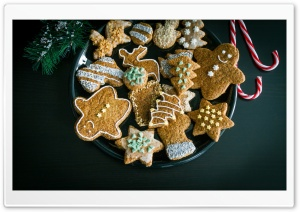 Gingerbread on a Plate HD Wide Wallpaper for 4K UHD Widescreen desktop & smartphone