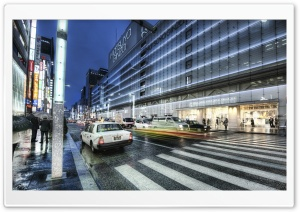 Ginza, Tokyo HD Wide Wallpaper for Widescreen