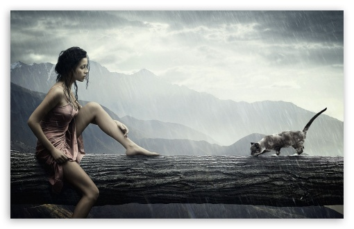 Girl And Cat HD wallpaper for Wide 16:10 5:3 Widescreen WHXGA WQXGA WUXGA WXGA WGA ; HD 16:9 High Definition WQHD QWXGA 1080p 900p 720p QHD nHD ; Standard 4:3 3:2 Fullscreen UXGA XGA SVGA DVGA HVGA HQVGA devices ( Apple PowerBook G4 iPhone 4 3G 3GS iPod Touch ) ; Tablet 1:1 ; iPad 1/2/Mini ; Mobile 4:3 5:3 3:2 16:9 - UXGA XGA SVGA WGA DVGA HVGA HQVGA devices ( Apple PowerBook G4 iPhone 4 3G 3GS iPod Touch ) WQHD QWXGA 1080p 900p 720p QHD nHD ;