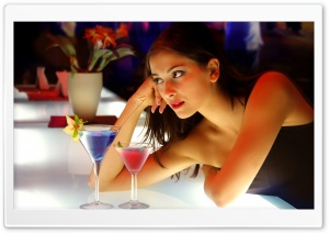 Girl And Cocktails Ultra HD Wallpaper for 4K UHD Widescreen desktop, tablet & smartphone