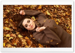Girl Autumn HD Wide Wallpaper for Widescreen