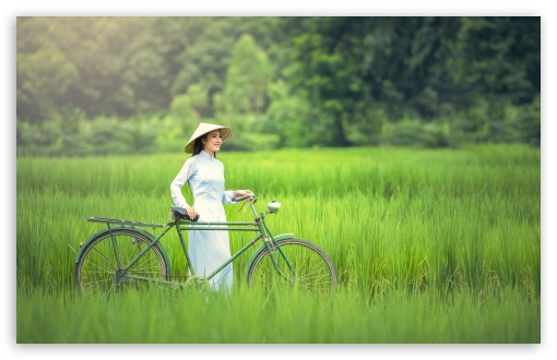 Girl, Bicycle, Rice Field Landscape ❤ 4K UHD Wallpaper for Wide 16:10 5:3 Widescreen WHXGA WQXGA WUXGA WXGA WGA ; UltraWide 21:9 24:10 ; 4K UHD 16:9 Ultra High Definition 2160p 1440p 1080p 900p 720p ; UHD 16:9 2160p 1440p 1080p 900p 720p ; Standard 4:3 5:4 3:2 Fullscreen UXGA XGA SVGA QSXGA SXGA DVGA HVGA HQVGA ( Apple PowerBook G4 iPhone 4 3G 3GS iPod Touch ) ; Tablet 1:1 ; iPad 1/2/Mini ; Mobile 4:3 5:3 3:2 16:9 5:4 - UXGA XGA SVGA WGA DVGA HVGA HQVGA ( Apple PowerBook G4 iPhone 4 3G 3GS iPod Touch ) 2160p 1440p 1080p 900p 720p QSXGA SXGA ; Dual 4:3 5:4 UXGA XGA SVGA QSXGA SXGA ;