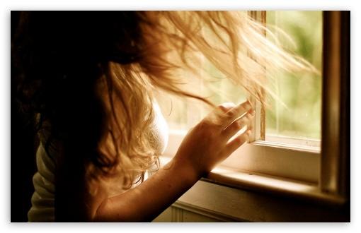 Download Girl by the Window UltraHD Wallpaper