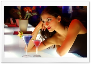 Girl Cocktail HD Wide Wallpaper for Widescreen
