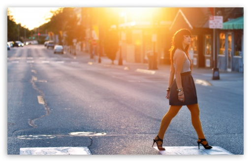 Girl Crossing The Street HD wallpaper for Wide 16:10 5:3 Widescreen WHXGA WQXGA WUXGA WXGA WGA ; HD 16:9 High Definition WQHD QWXGA 1080p 900p 720p QHD nHD ; Standard 4:3 5:4 3:2 Fullscreen UXGA XGA SVGA QSXGA SXGA DVGA HVGA HQVGA devices ( Apple PowerBook G4 iPhone 4 3G 3GS iPod Touch ) ; Tablet 1:1 ; iPad 1/2/Mini ; Mobile 4:3 5:3 3:2 16:9 5:4 - UXGA XGA SVGA WGA DVGA HVGA HQVGA devices ( Apple PowerBook G4 iPhone 4 3G 3GS iPod Touch ) WQHD QWXGA 1080p 900p 720p QHD nHD QSXGA SXGA ;