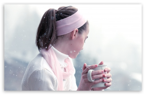 Girl Drinking Hot Tea HD wallpaper for Wide 16:10 5:3 Widescreen WHXGA WQXGA WUXGA WXGA WGA ; HD 16:9 High Definition WQHD QWXGA 1080p 900p 720p QHD nHD ; UHD 16:9 WQHD QWXGA 1080p 900p 720p QHD nHD ; Standard 4:3 5:4 Fullscreen UXGA XGA SVGA QSXGA SXGA ; Tablet 1:1 ; iPad 1/2/Mini ; Mobile 4:3 5:3 5:4 - UXGA XGA SVGA WGA QSXGA SXGA ;