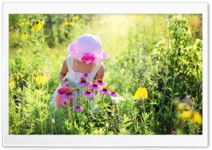 Girl Enjoing the Outdoors HD Wide Wallpaper for 4K UHD Widescreen desktop & smartphone