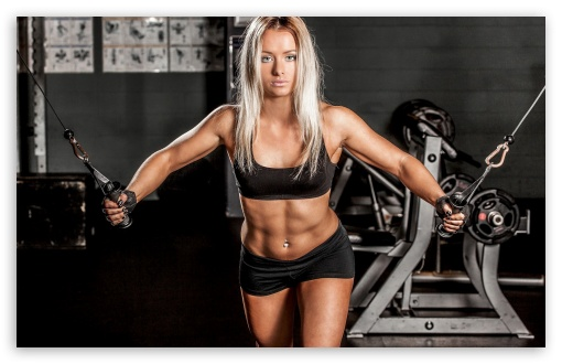 Download Girl Fitness Sport Gym HD Wallpaper
