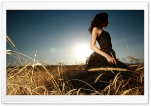 Girl In Field HD Wide Wallpaper for Widescreen